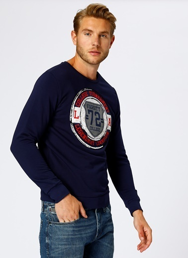 T-Box Sweatshirt Lacivert